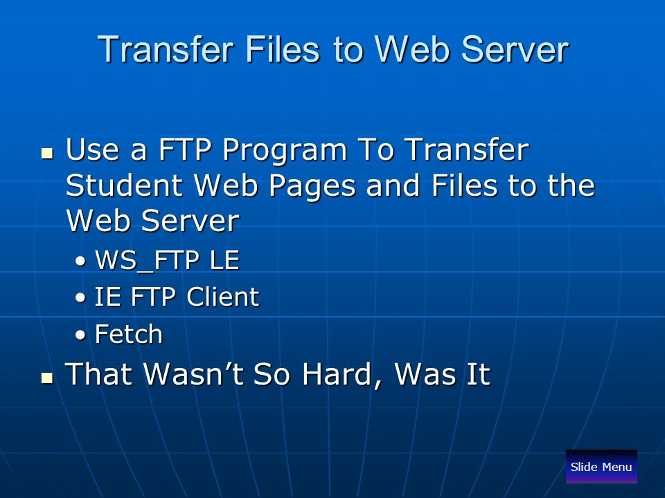 Transfer Files to Web Server