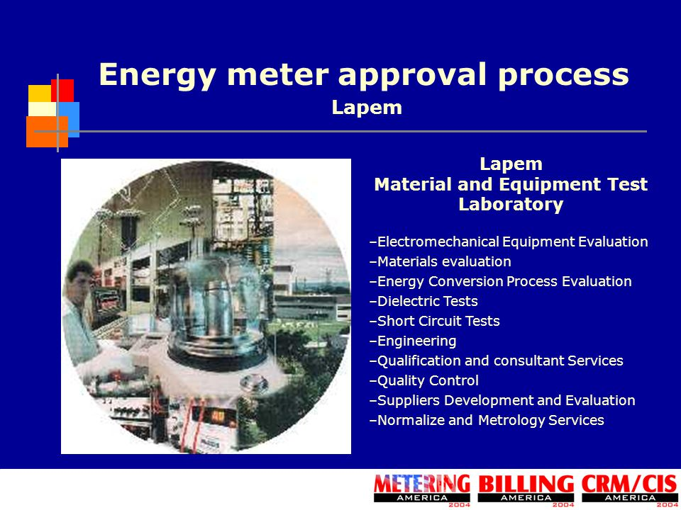 Energy meter approval process