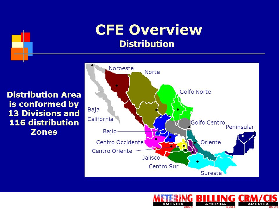 CFE Overview Distribution Distribution Area is conformed by