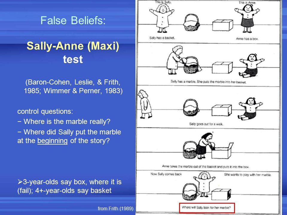 Sally-Anne (Maxi) test