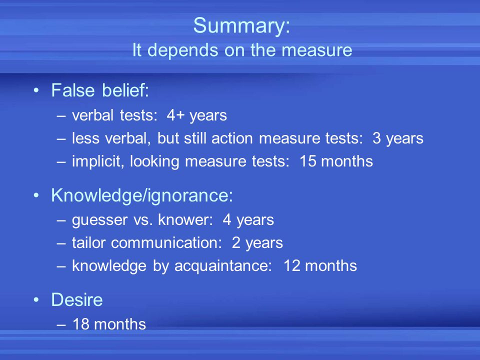 Summary: It depends on the measure