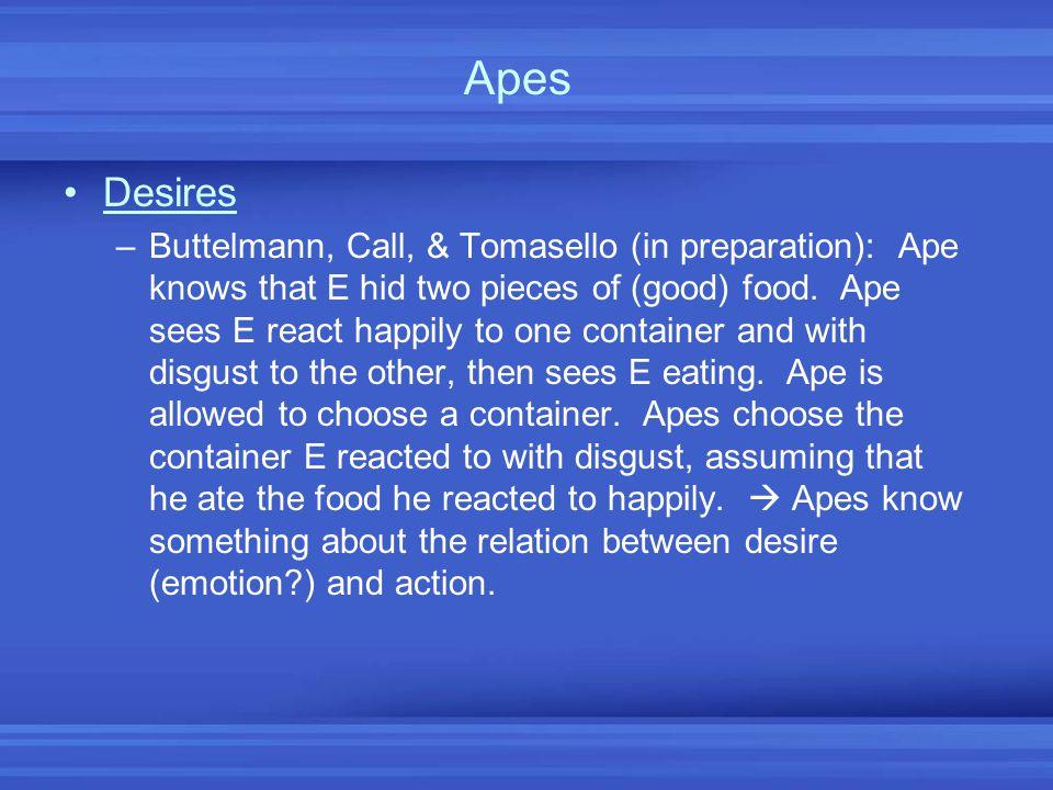 Apes Desires.