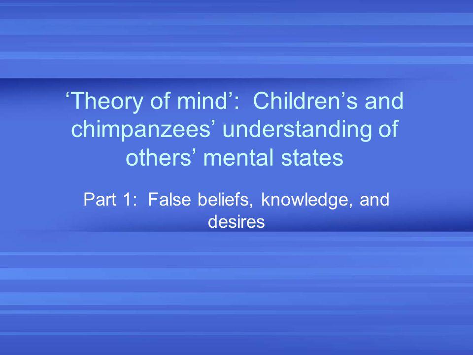 Part 1: False beliefs, knowledge, and desires