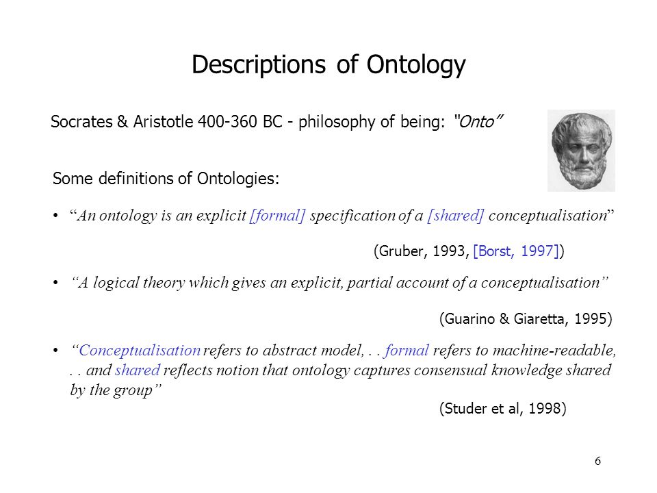 Descriptions of Ontology