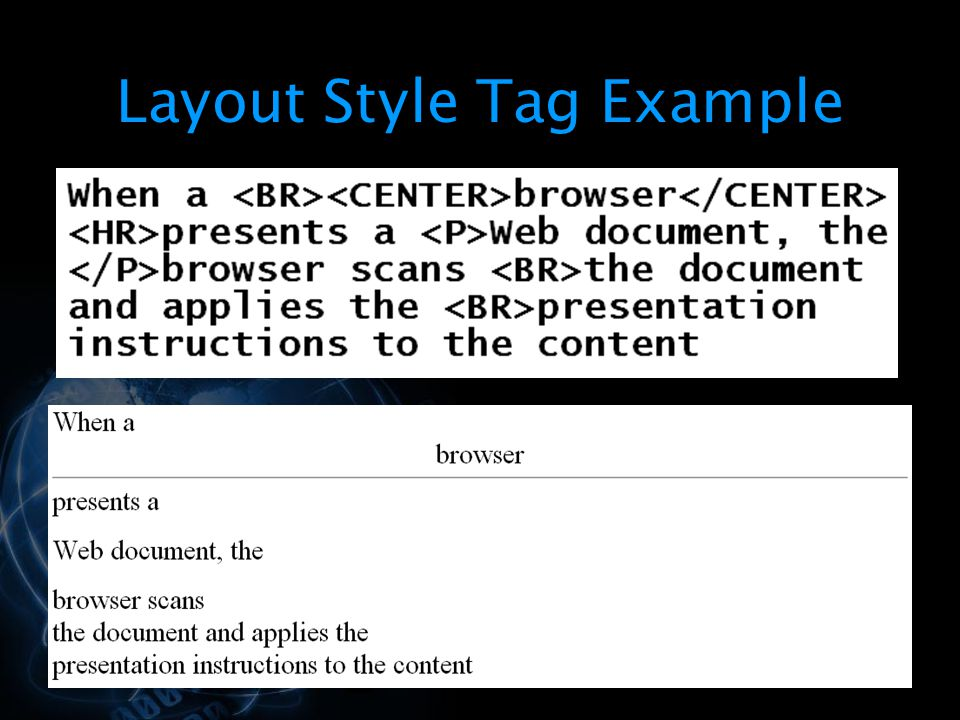 Layout Style Tag Example