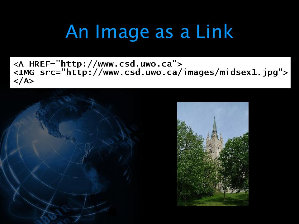 An Image as a Link