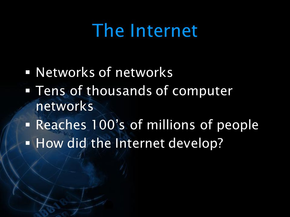 The Internet Networks of networks