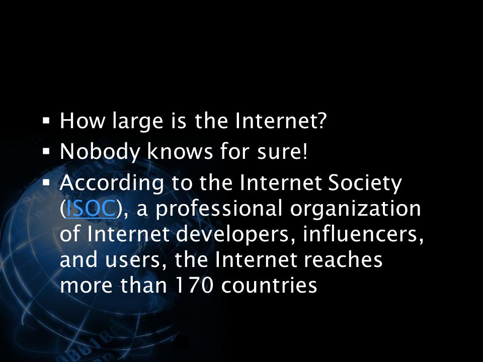 How large is the Internet