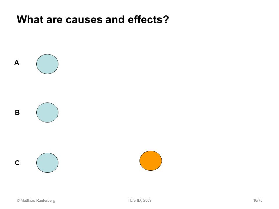 What are causes and effects