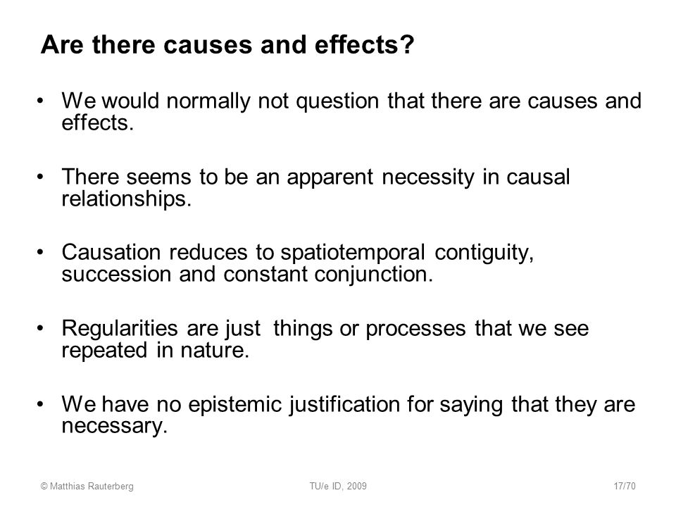Are there causes and effects