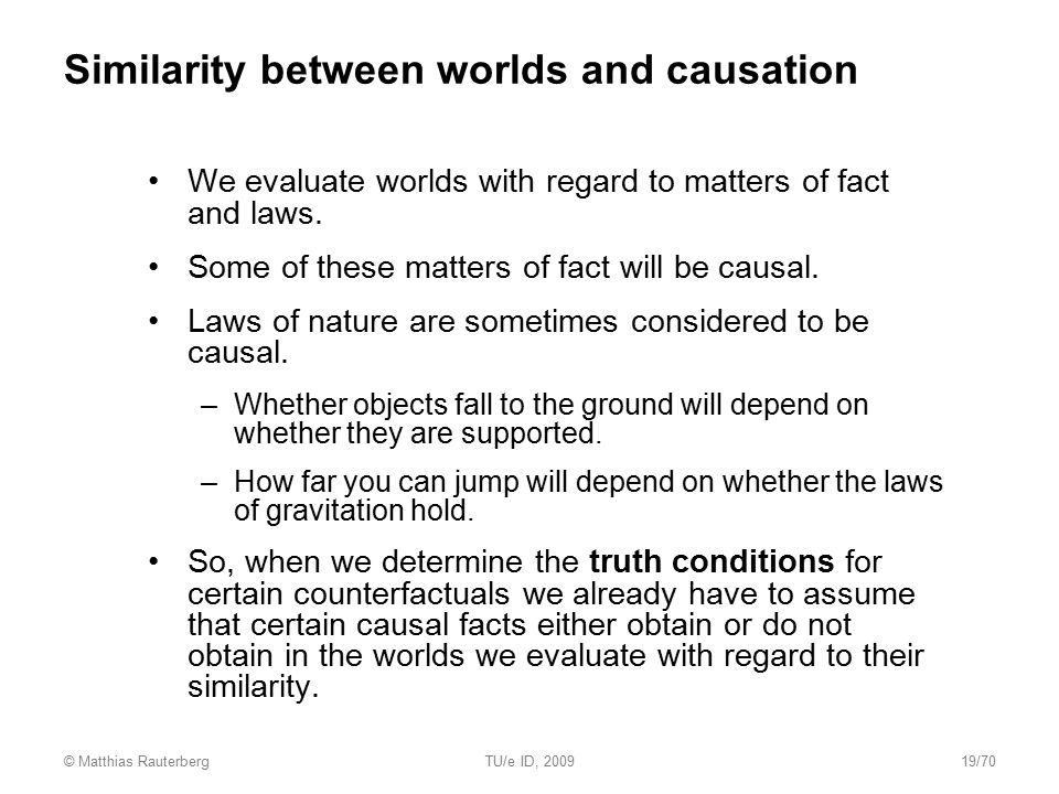 Similarity between worlds and causation