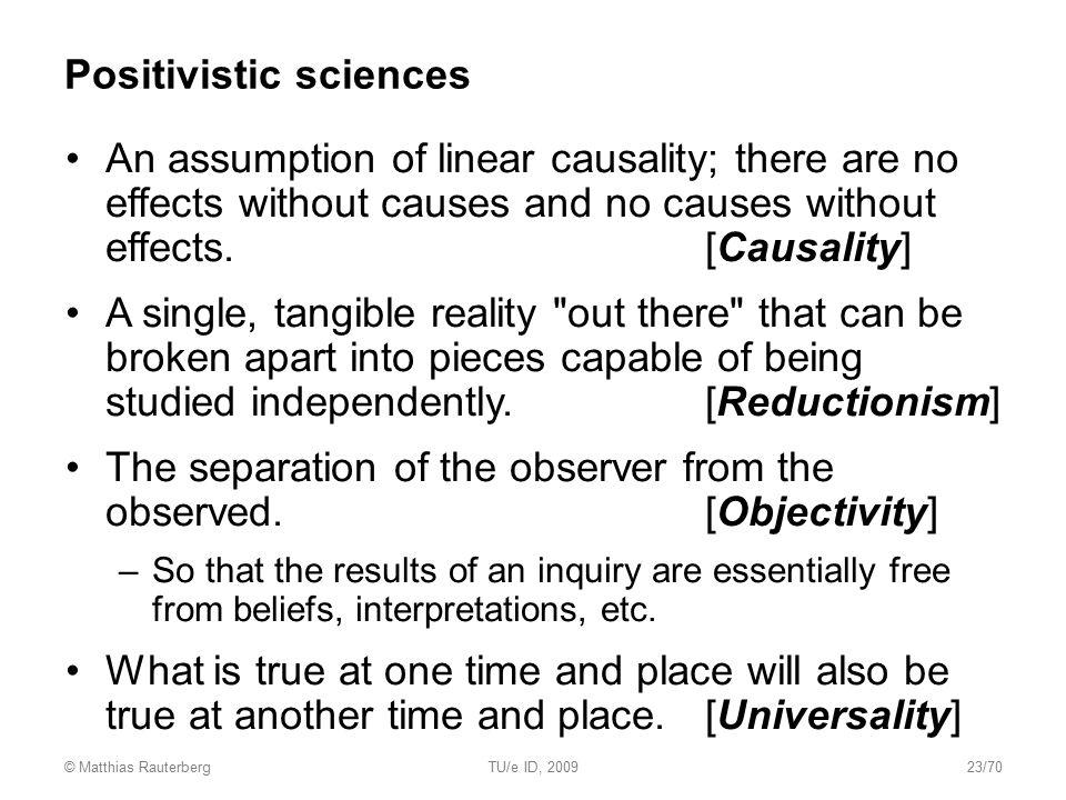 Positivistic sciences
