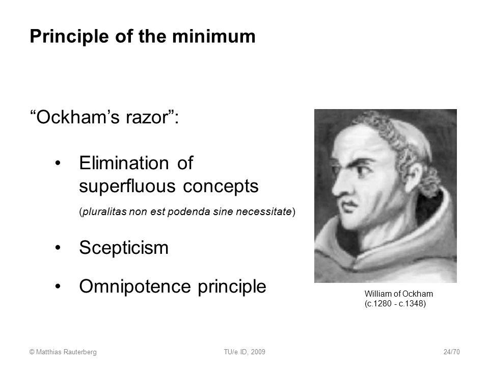 Principle of the minimum