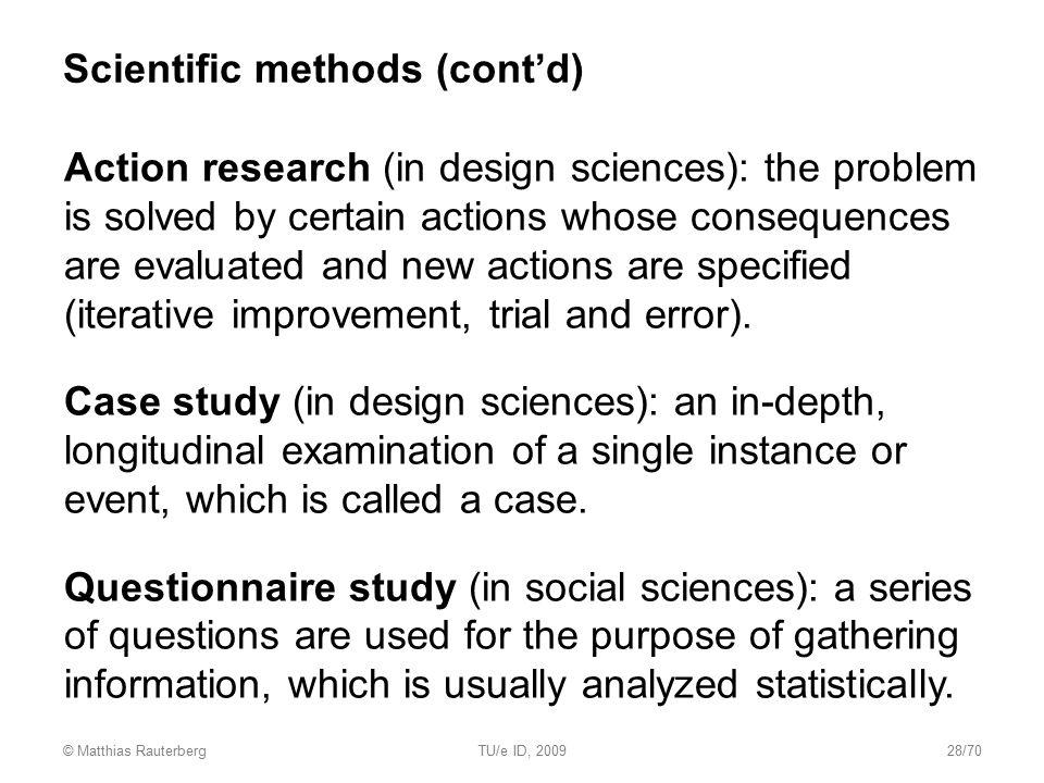 Scientific methods (cont'd)
