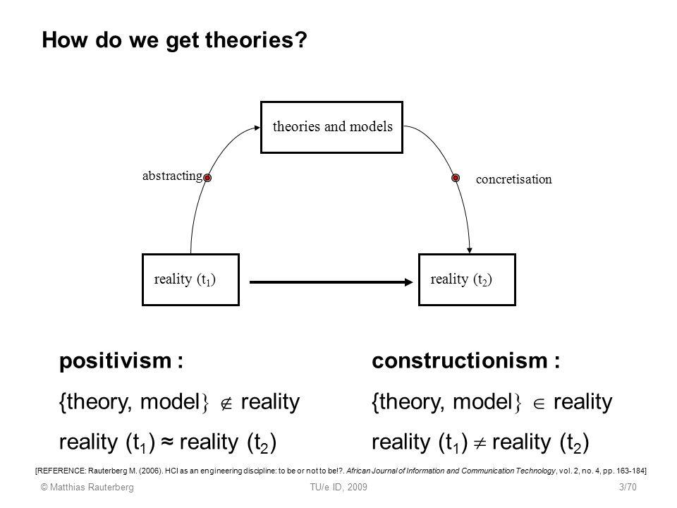 {theory, model  reality reality (t1) ≈ reality (t2)