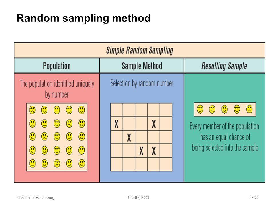Random sampling method