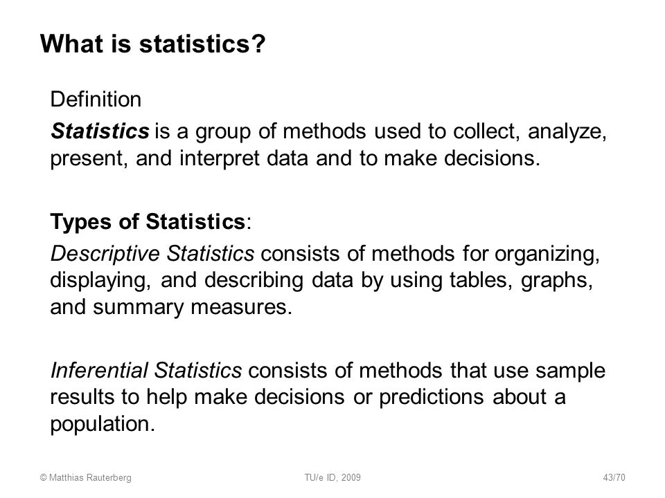 What is statistics Definition