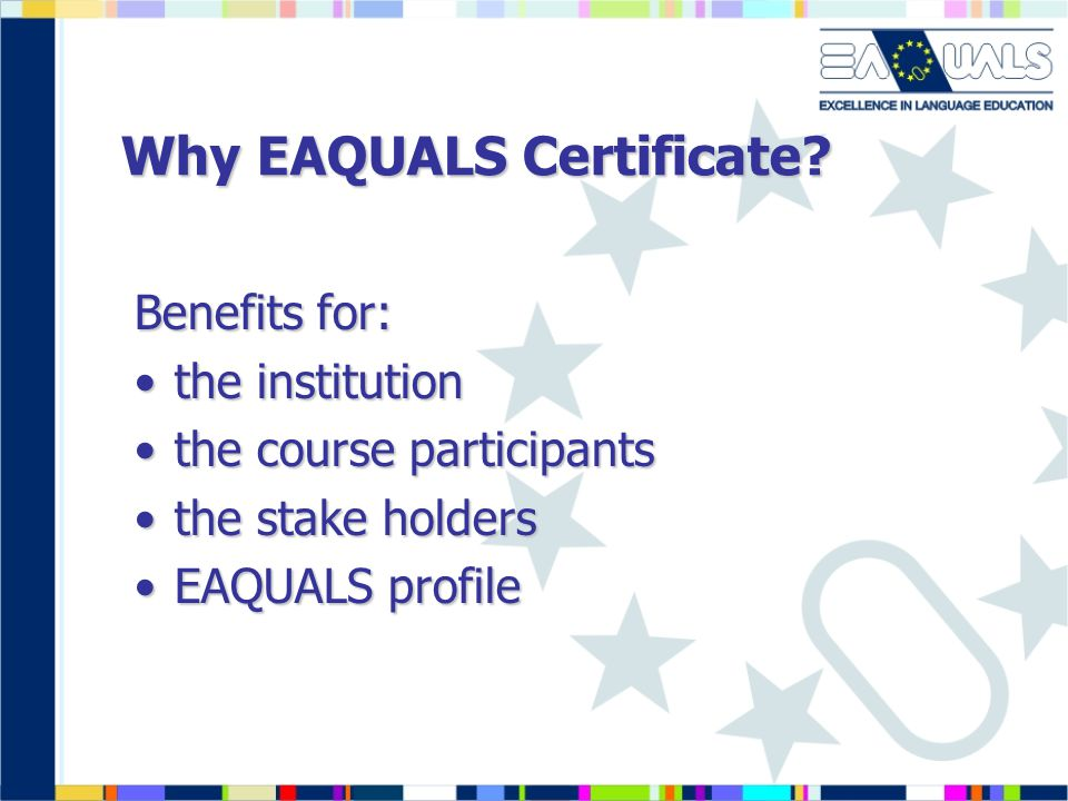 Why EAQUALS Certificate