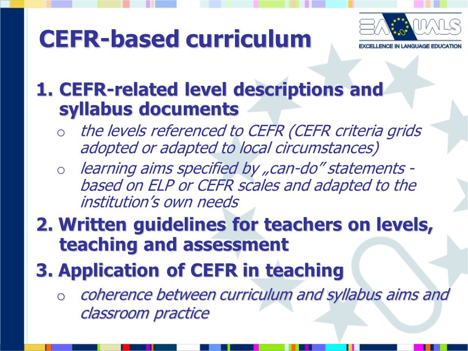 CEFR-based curriculum