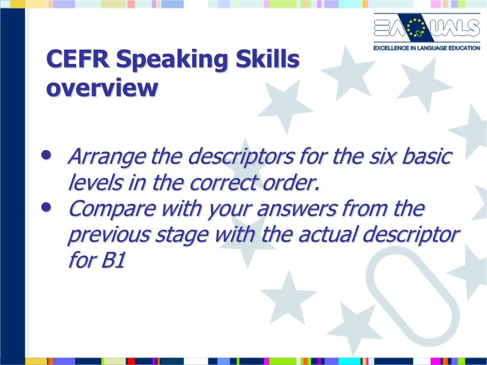 CEFR Speaking Skills overview