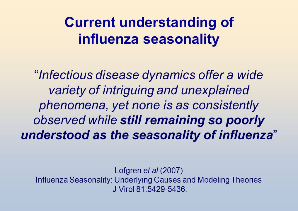 Current understanding of influenza seasonality
