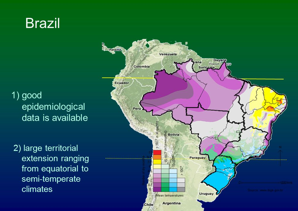 Brazil 1) good epidemiological data is available