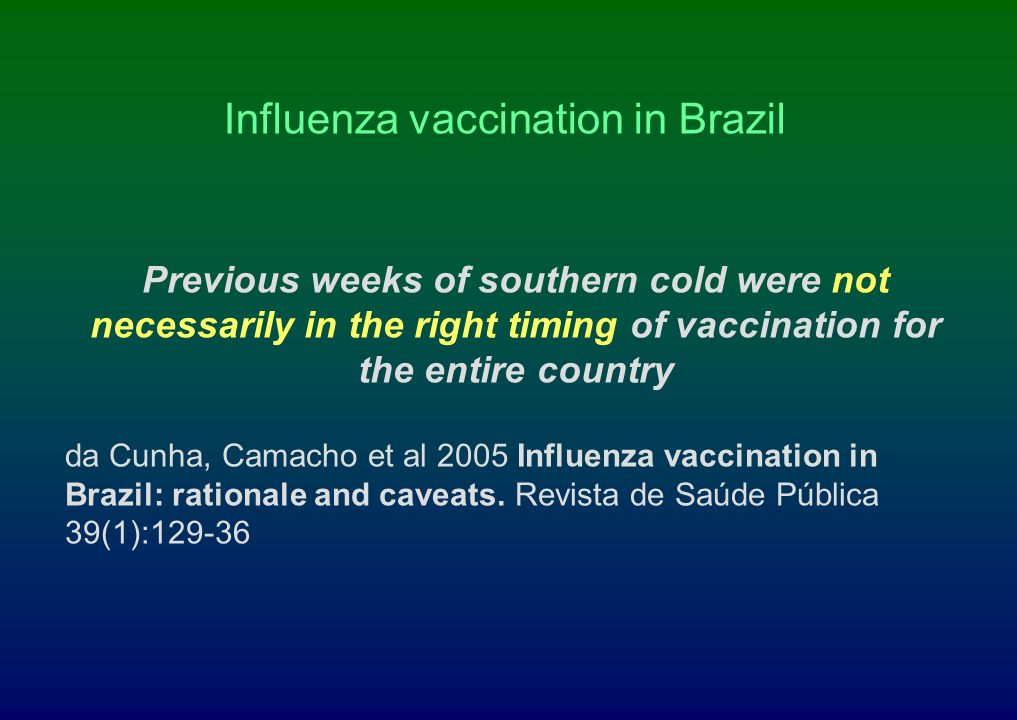 Influenza vaccination in Brazil