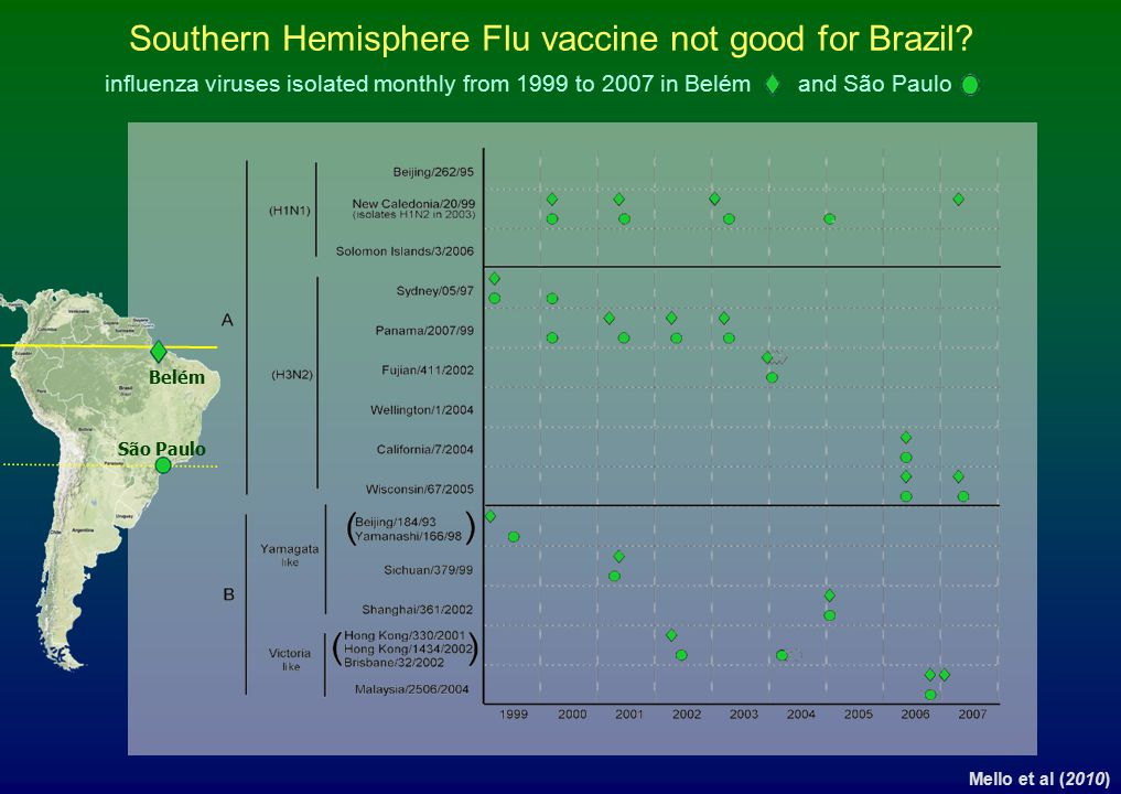 Southern Hemisphere Flu vaccine not good for Brazil
