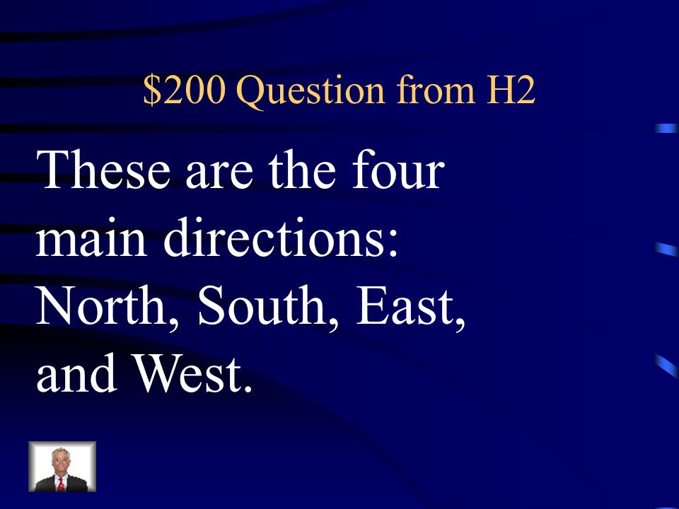 These are the four main directions: North, South, East, and West.