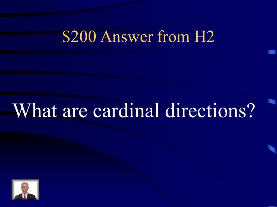 What are cardinal directions