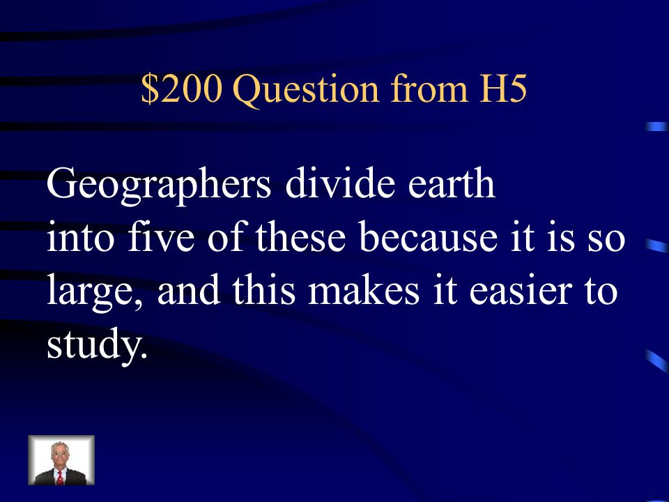 Geographers divide earth