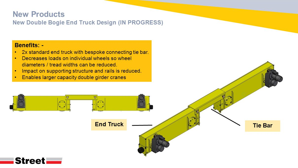 New Products New Double Bogie End Truck Design (IN PROGRESS)