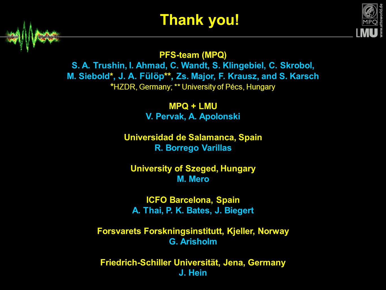 Thank you! PFS-team (MPQ)