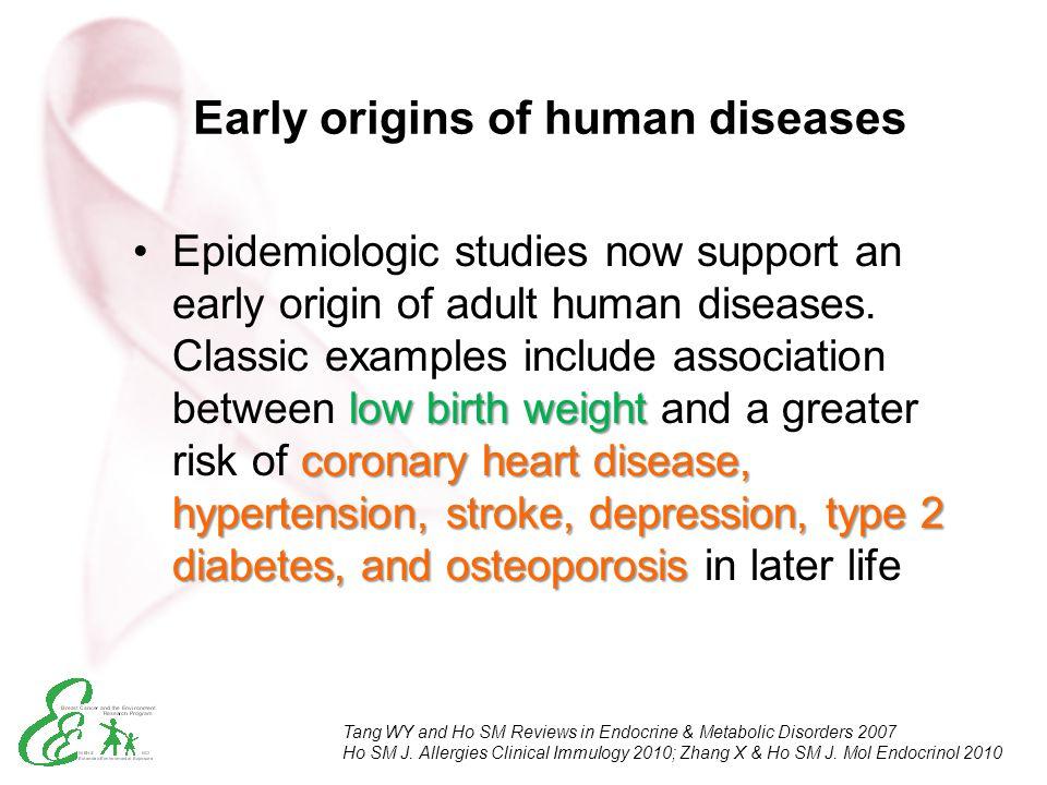 Early origins of human diseases