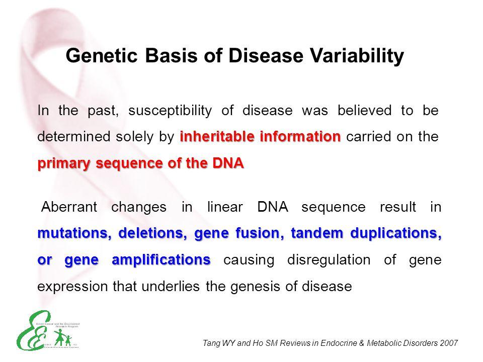Genetic Basis of Disease Variability
