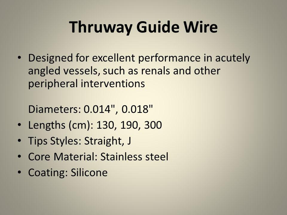 Thruway Guide Wire