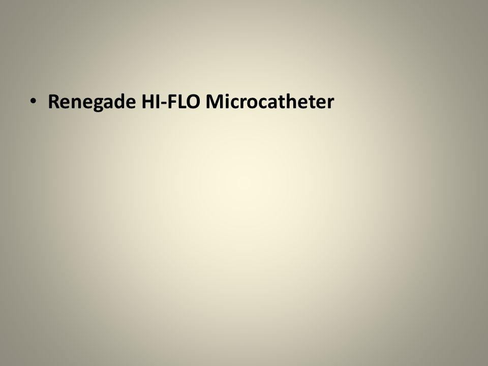 Renegade HI-FLO Microcatheter