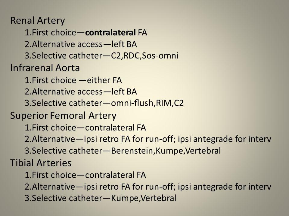 Superior Femoral Artery