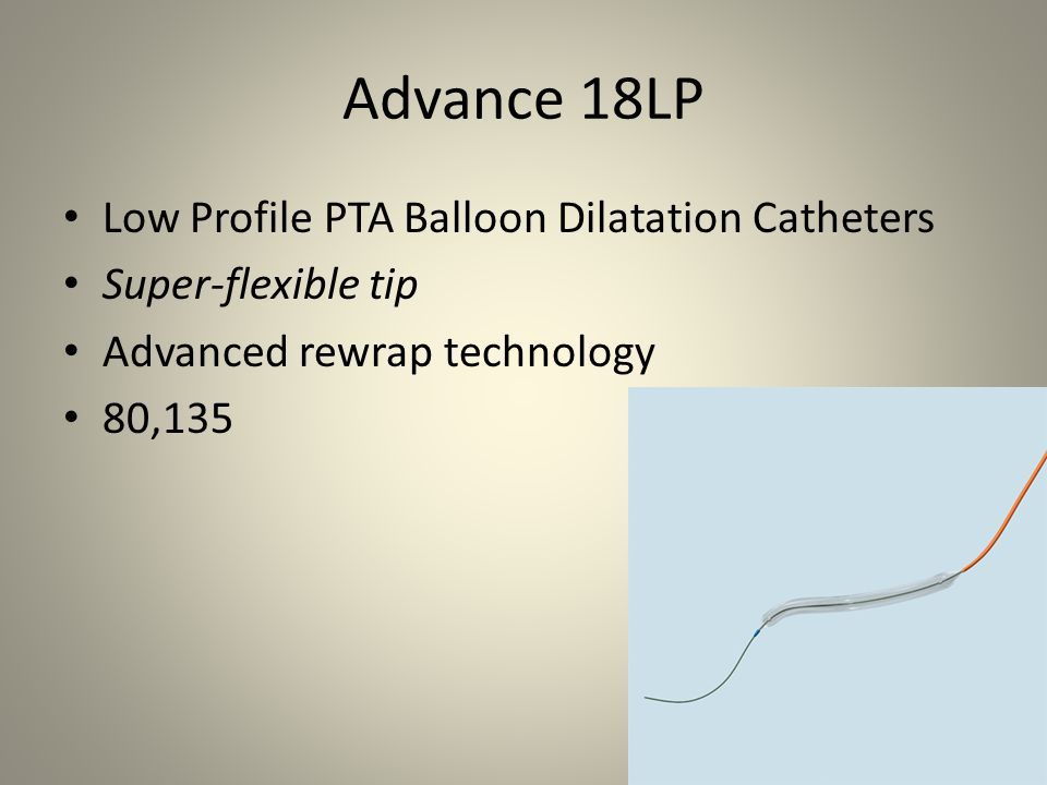 Advance 18LP Low Profile PTA Balloon Dilatation Catheters