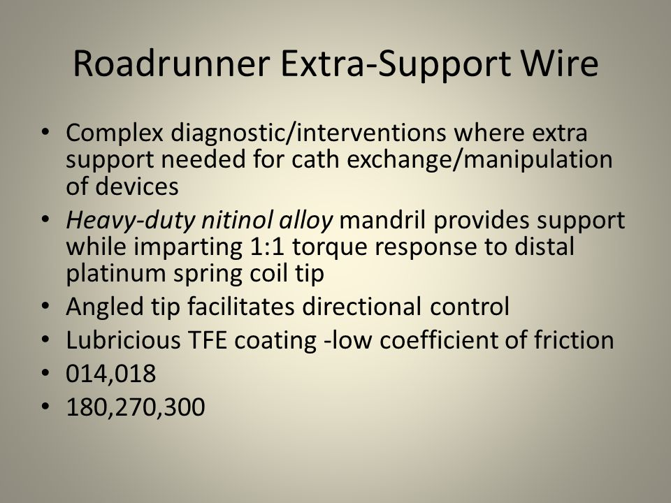 Roadrunner Extra-Support Wire