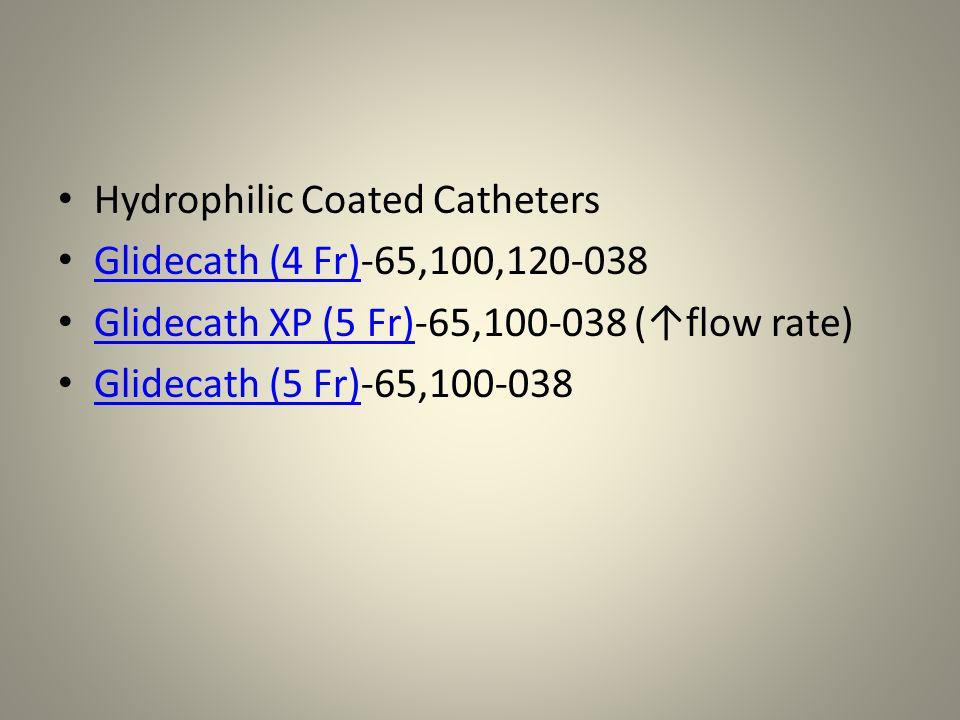 Hydrophilic Coated Catheters