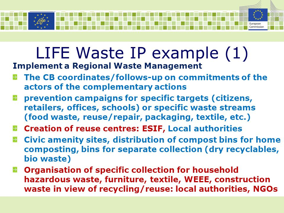 LIFE Waste IP example (1)