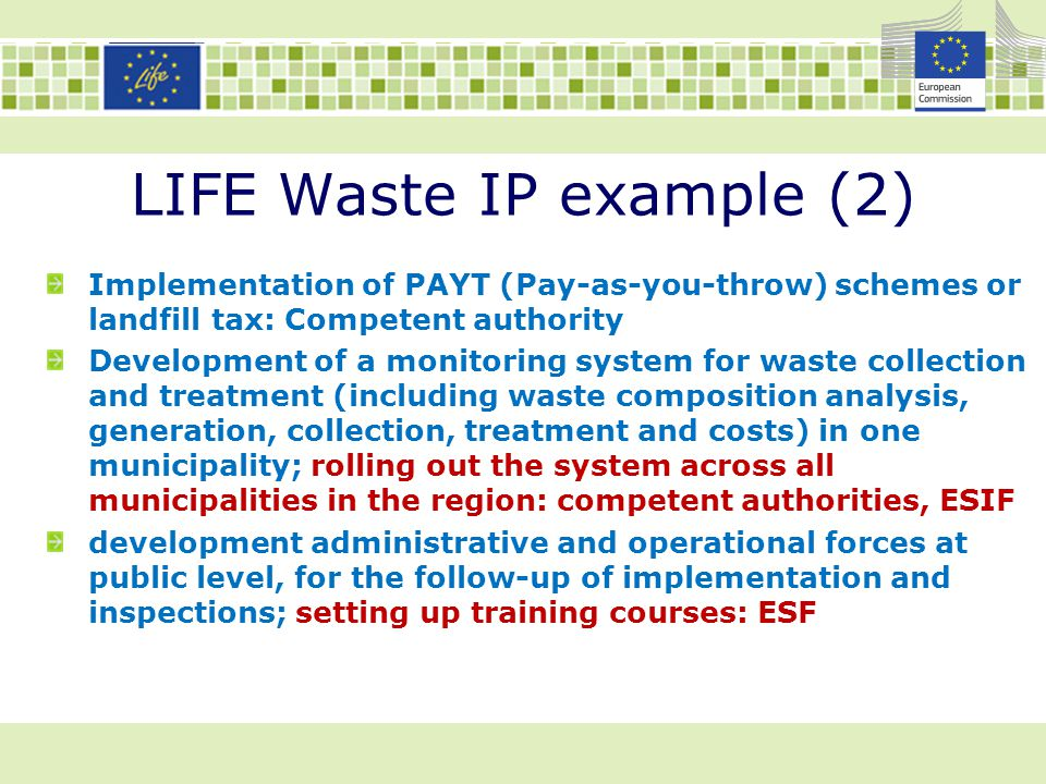 LIFE Waste IP example (2)