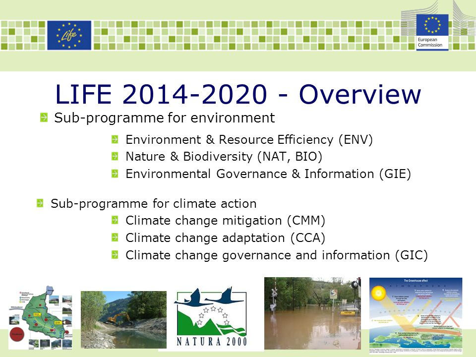 LIFE 2014-2020 - Overview Sub-programme for environment