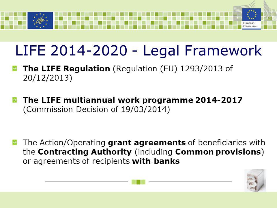 LIFE 2014-2020 - Legal Framework