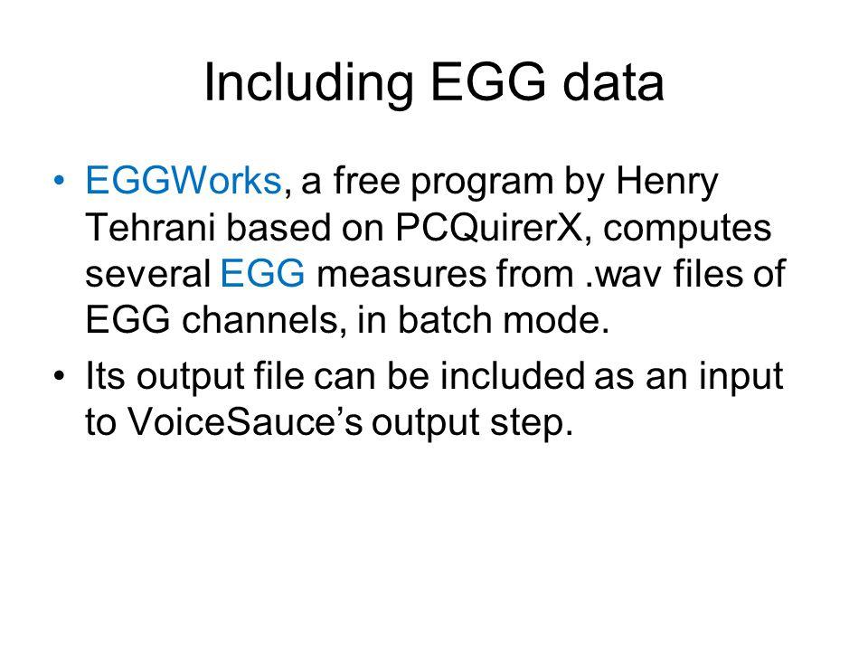 Including EGG data
