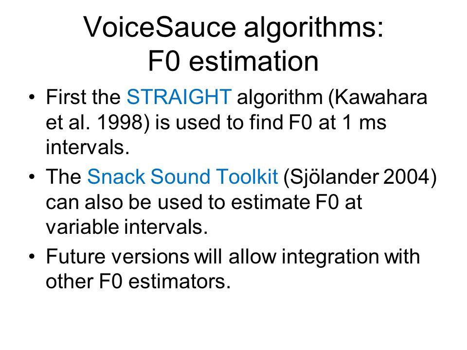 VoiceSauce algorithms: F0 estimation