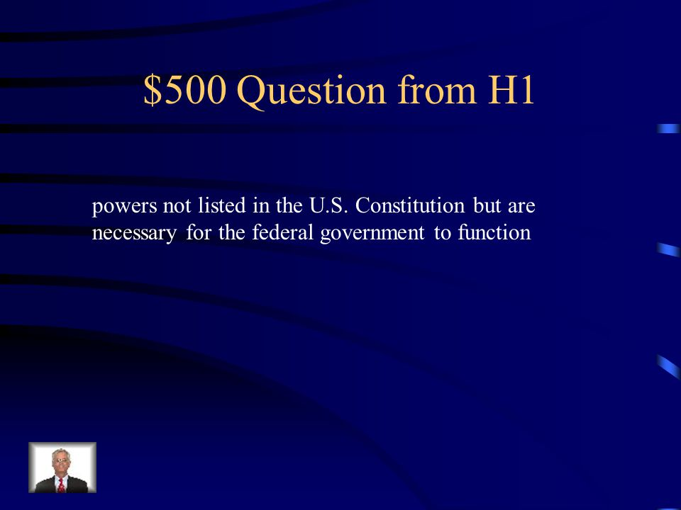$500 Question from H1 powers not listed in the U.S.