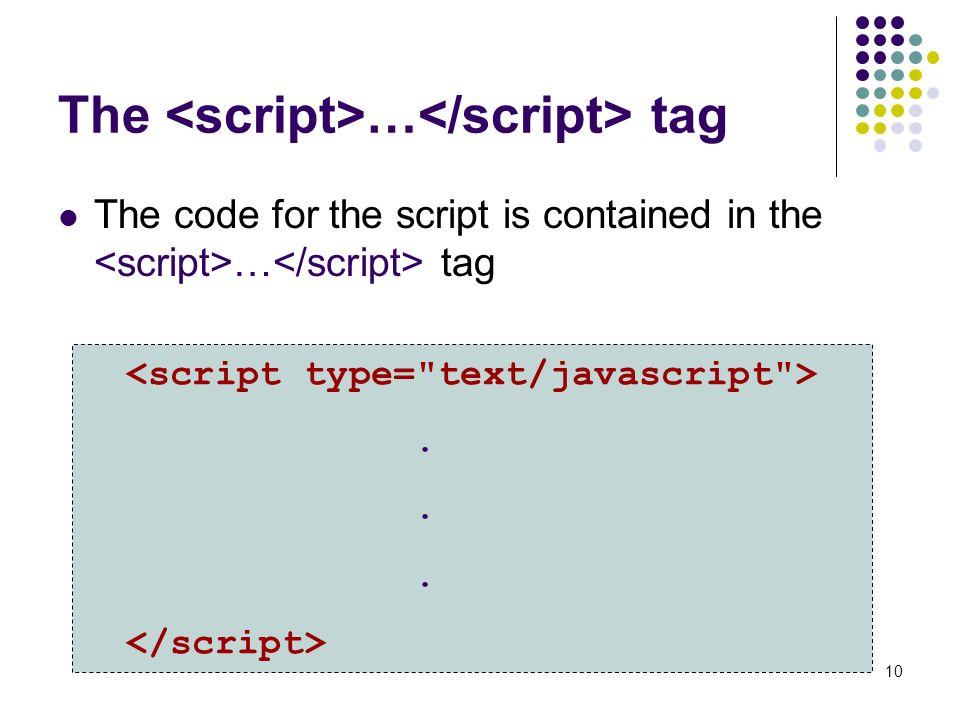 The <script>…</script> tag