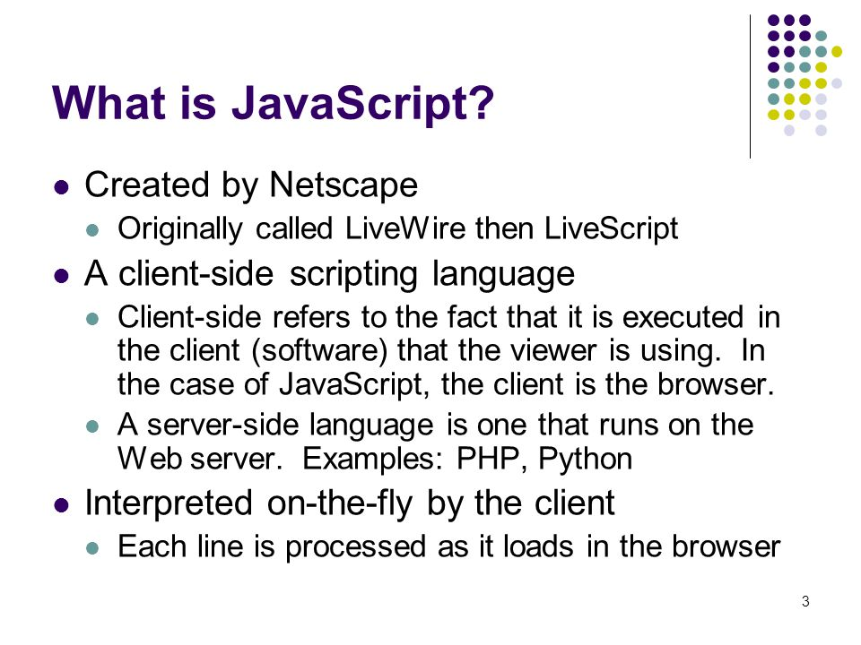 What is JavaScript Created by Netscape